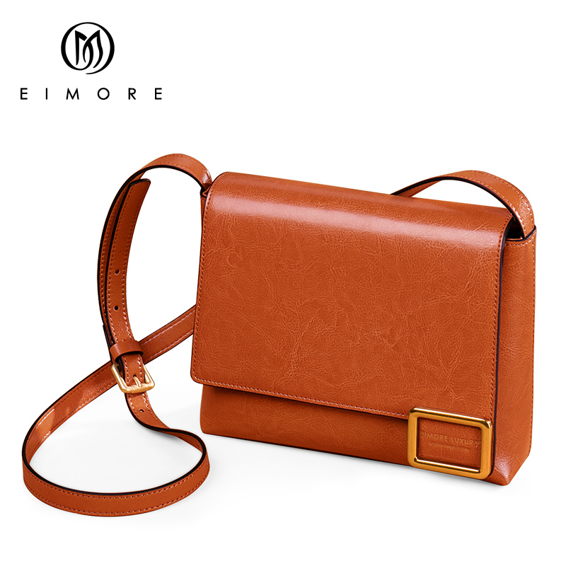Image 2 - EIMORE Crossbody Bag Women's New 2019 Woman Bag Spring Fashion Square Bag Female Simple Wild Leather Shoulder Messenger Bag-in Top-Handle Bags from Luggage & Bags