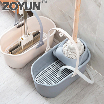 Rectangular mop cleaning bucket portable plastic bucket household cleaning bucket car wash bucket wring dry mop squeeze mop фото