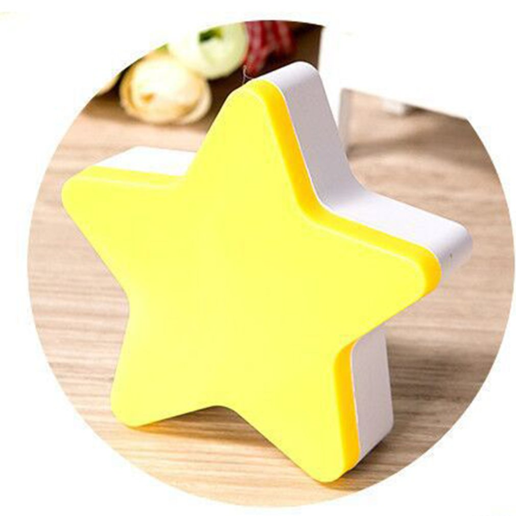 Light Sensor Control Cartoon Star LED Night Light For Dark Night Children Bedroom Bedside Lamp Baby Sleeping Light