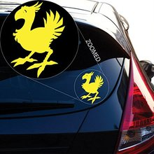 Chocobo Final Fantasy 7 Decal Sticker for Car Window, Laptop Room (5.5 inches (Yellow)
