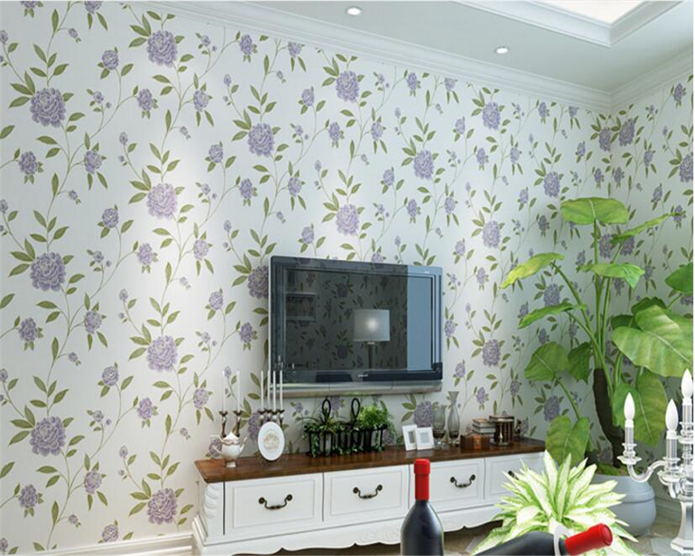 beibehang papel de parede Stereo Fine Nonwovens Wallpaper Warm Pastoral 3D Bedroom Living Room TV Background Wall 3d wallpaper beibehang papel de parede pastoral environmental nonwovens wall paper warm small floral living room bedroom background wallpaper