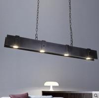 loft Retro industrial black iron rail pendant light offices restaurants coffee bar hanging lighting