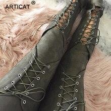 Articat Spitze Up Wildleder Leder Hosen Frauen Herbst Hohe Taille Aushöhlen Bandage Dünne Hosen Frauen Legging Casual Winter Hosen