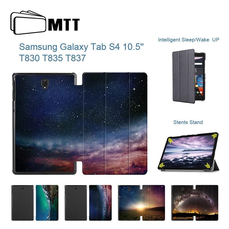 Contemplatif Mtt Tab S4 Sm-t835 Sm-t830 Aurora Météor Pu Couverture De Tablette En Cuir Pour Samsung Galaxy Tab S4 10.5 étui T830 T835 Coque Capa Funda