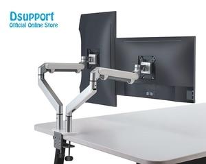 Image 2 - Soporte de escritorio para montaje de Monitor de doble brazo, soporte de Monitor de aluminio totalmente ajustable Monitor de resorte de Gas montaje de TV para OZ 2 de 17 32