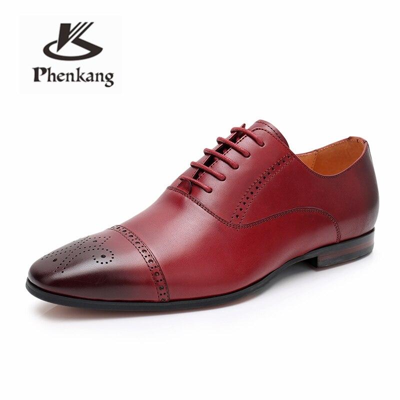 Chaussures formelles pour hommes chaussures en cuir oxford pour hommes habillement mariage chaussures de bureau à lacets hommes zapatos de hombre-in Chaussures d'affaires from Chaussures    3