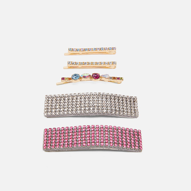 JUJIA New Crystal Hair Pins Clips For Women Girls za Jewelry Wedding Gift Trendy Barrette Bobby Pin Hair Accessories
