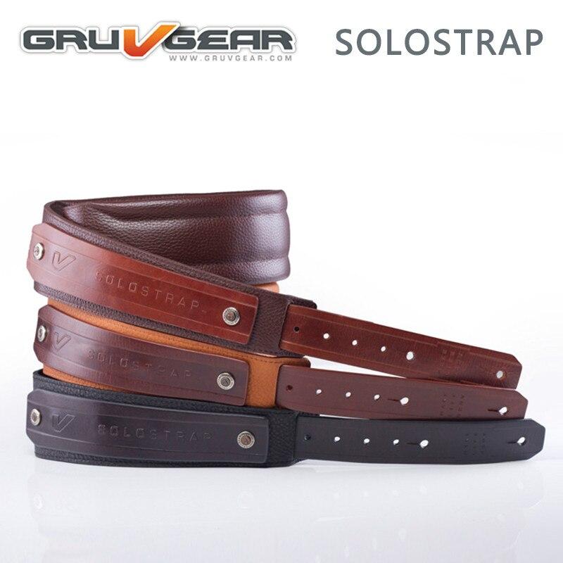Gruv Gear SoloStrap sangle de guitare en cuir de première qualité, 3 couleurs disponibles