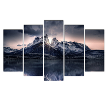 HD print 5 piece canvas art Abstract Color Painting Dropshipping wall picture for living room poster
