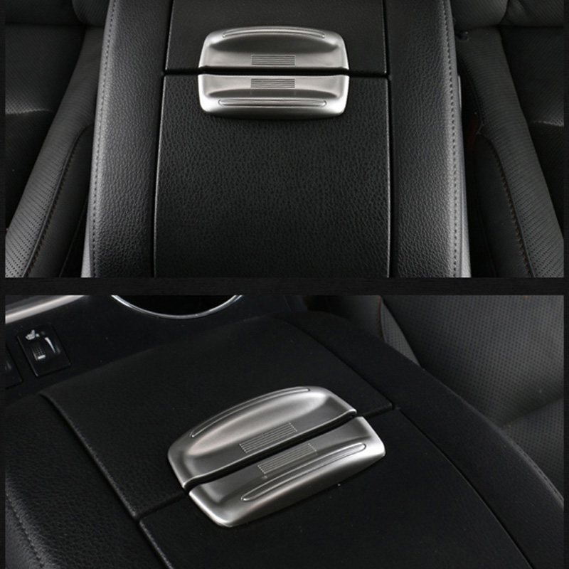 Accessories For Toyota Highlander 2015 2016 2017 ABS Matte Car Central Control Storage Box Armrest Box Open Switch Sticker 2Pcs