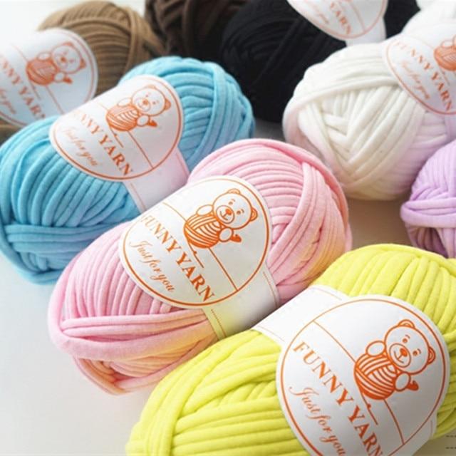 Daxiaobu 1 Ball Weiche Stoff Garn Für Diy Stricken Teppich Tasche