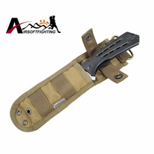 Emerson 1000D Nylon Knife Pouch w/Anti-cut Plate Inside Portable Protective Knife Holster for Tactical Hunting Hiking Camping