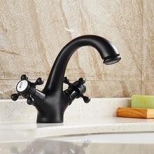 Auswind Европейский ванной кран черная поверхность Форма рога Твердый латунный ванная комната Санузел Меса монтаж 2111 К