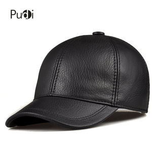 Image 3 - HL171 F Spring genuine leather baseball sport cap hat  mens winter warm brand new cow skin leather newsboy caps hats 5 colors