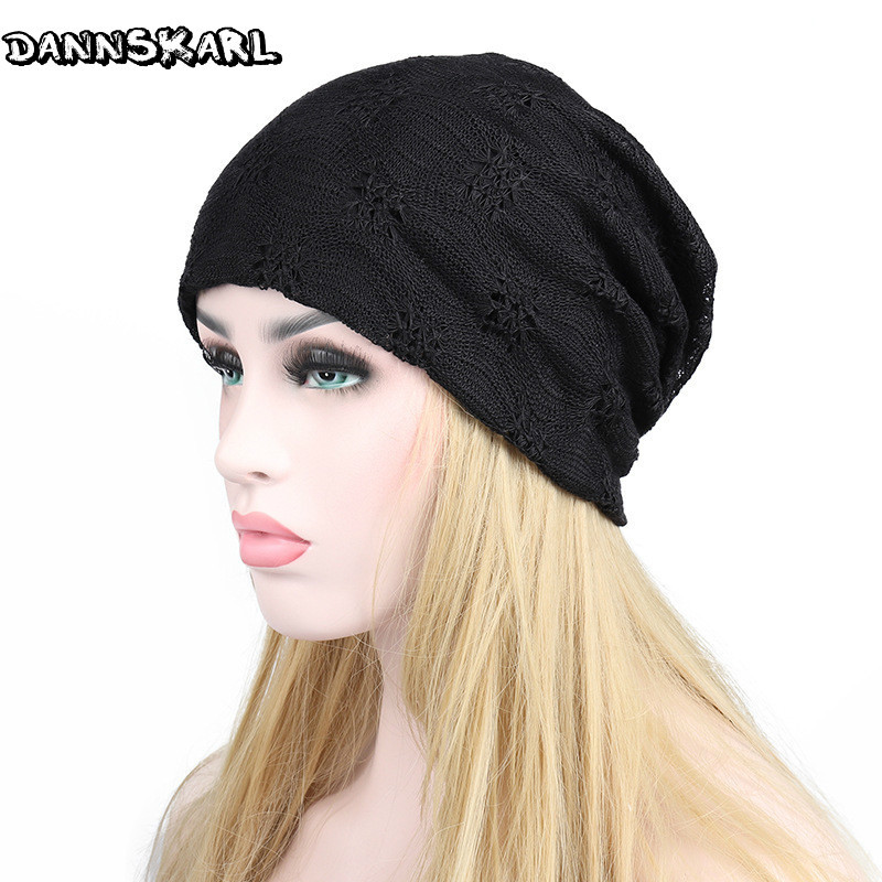 2017 Fashion Autumn Women Skullies Beanies Spring Lace Hats For Women Double-deck Cap Hat Woman Female Beanie Sweet Girl Gorros skullies