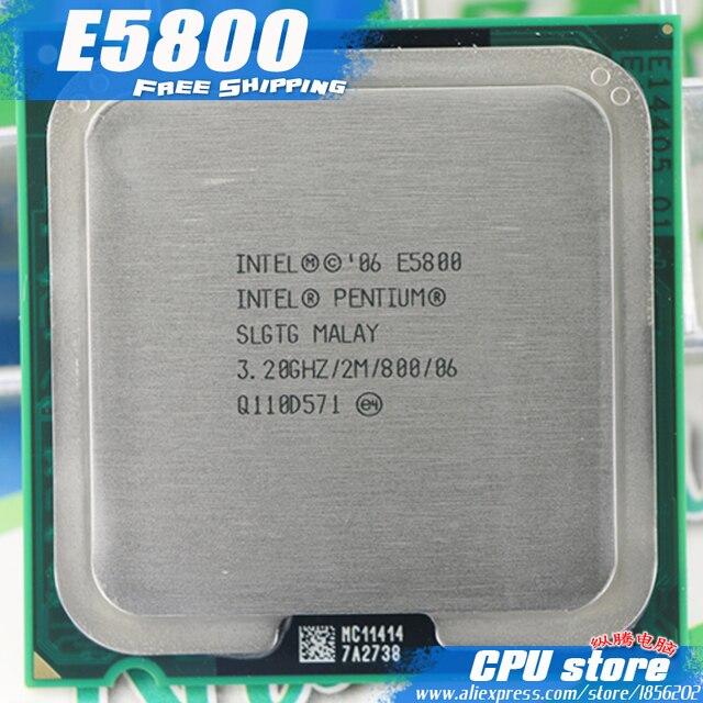 انتل بنتيوم ثنائي النواة E5800 معالج وحدة المعالجة المركزية (3.2 جيجا هرتز/2 متر/800 جيجا هرتز) مقبس 775 شحن مجاني