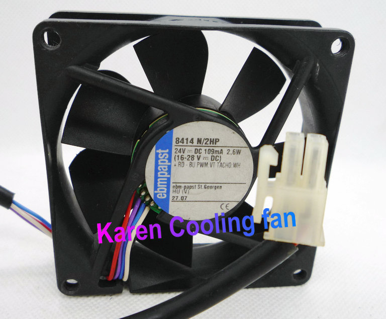 8025 24V 2.6W TYP 8414 N/2 4wire PWM sever cooling fan 8414N/2HP linvel 8414 4