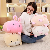 45cm cute plush toy kawaii plush rabbit pig baby toy baby pillow rabbit doll soft children sleeping doll children birthday gift