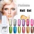 5ml Platinum Gel Nail Polish Colors Soak Off UV Gel Polish 12 Colors Popular Metal Nail Art Gelpolish Manicure Gel