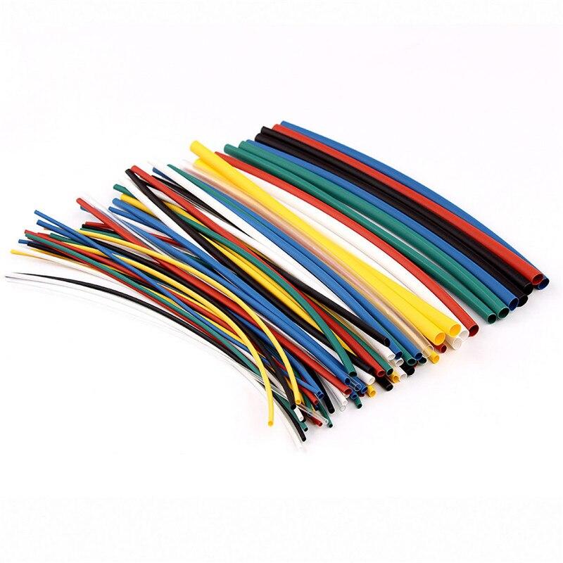 70pcs Heat Shrink Tubing Tube 8 Size Polyolefin 2:1 Sleeving Wrap Assortment Kit 1.0mm/1.5mm/2.5mm/3.5mm/5.0mm