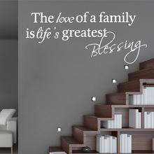 Removable sentence Family Wall Stickers Mural Art Home Decor Living Room Children Poster