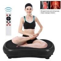 Ultra Thin Massage Vibration Plate Machine Body Building Shaping Weight Loss Fat Burning Massage Plate Home Gym Exercise UK Plug