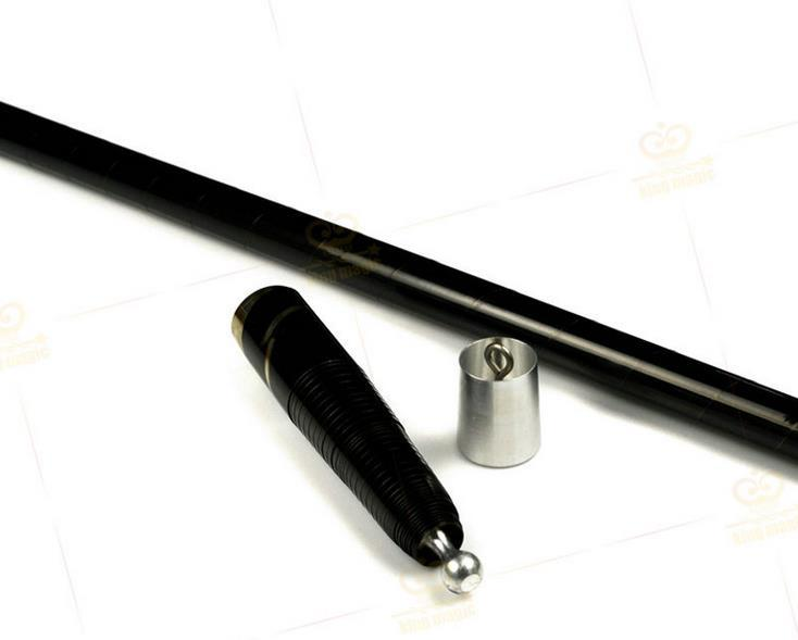 Metal Vanishing Cane/Wand,Black Color - Magic Tricks,Silk&Cane Magic,Close Up,Stage Magia,Illusions,Comedy,,Accessories