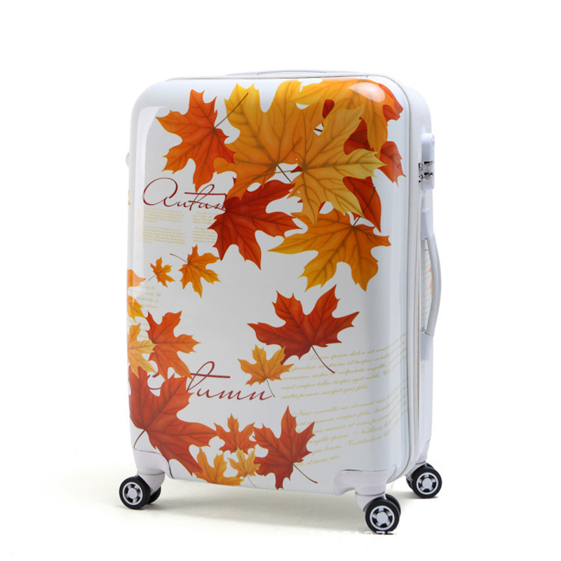 LeTrend Graffiti design Rolling Luggage Spinner 24 inch Women Men Suitcase Wheels 20 inch Carry on Trolley Travel Bag Trunk-in Suitcases from Luggage & Bags    1