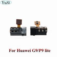 YuXi For Huawei P9 Lite G9 Earphone Headphone Jack Audio Flex Cable for Huawei P9lite earphone headphone audio jack flex cable for huawei p9 p10 p20 lite plus for honor 8 9 10 lite for mate 20 lite repair parts