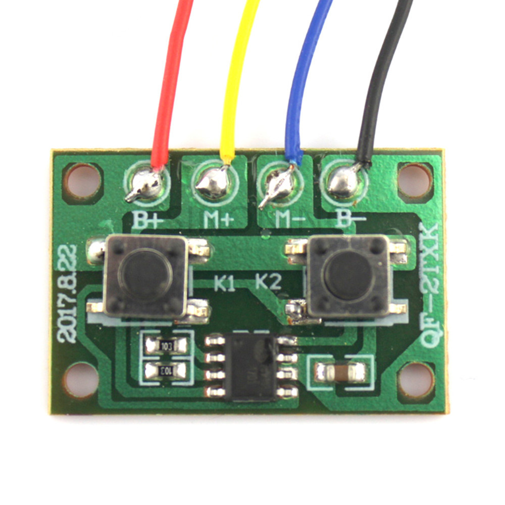 Two Ways Electronic Version Of Two-channel Wired Remote Control Board Controllable One Motor Forward And Reverse #2
