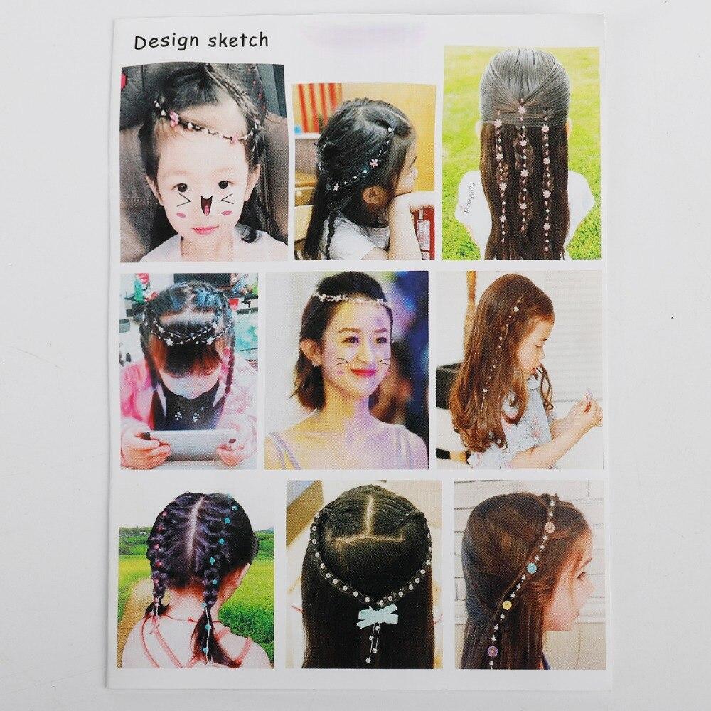 New Korea Girls Hair Chain Women's Alloy Rhinestone Hair Chain Hair Accessories Little Girl Princess Chain Headwear 1 Piece/Pack