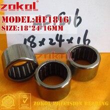 ZOKOL bearing HF1816 HF2016 One way needle roller bearing 18*24*16mm 20*26*16mm