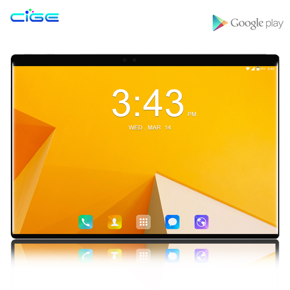 CIGE Hot Seller Android 8.0 10 pouces tablette Octa Core 6GB RAM 64GB ROM 4G LTE double carte SIM tablettes 10.1 1280x800 IPS