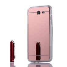 Slim Silver Rose Gold Soft TPU Mirror Case For Samsung galaxy J2 Pro 2018 Protective Back Cover
