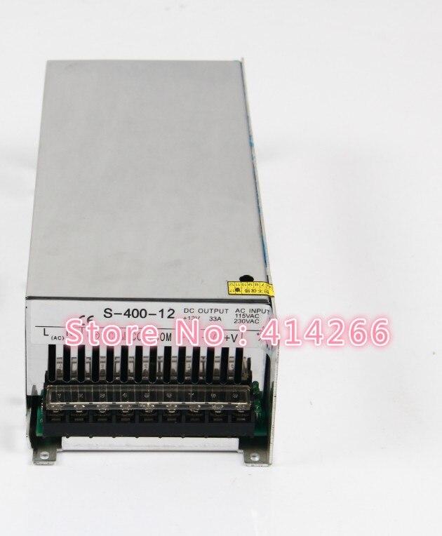 S-400-12 400 W 33A Alimentation à découpage pour LED Bande de lumière, 220 V/110 V AC Entrée, 12 V sortie