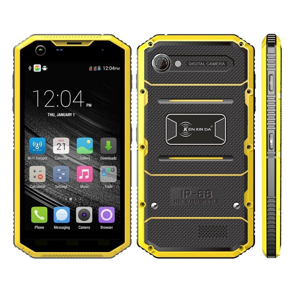 KENXINDA Proofing W7 Waterproof Phone 5 0 inch Andriod 5 1 MTK6735 Quad Core ROM 16GB