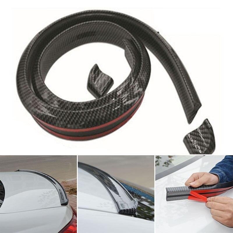 Carbon Fiber Car Spoiler Rubber Rear Roof Trunk Molding Protector Lip Sport WingCarbon Fiber Car Spoiler Rubber Rear Roof Trunk Molding Protector Lip Sport Wing