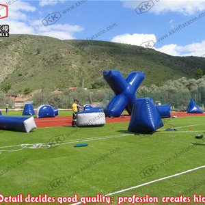 Outdoor inflatable paintball b