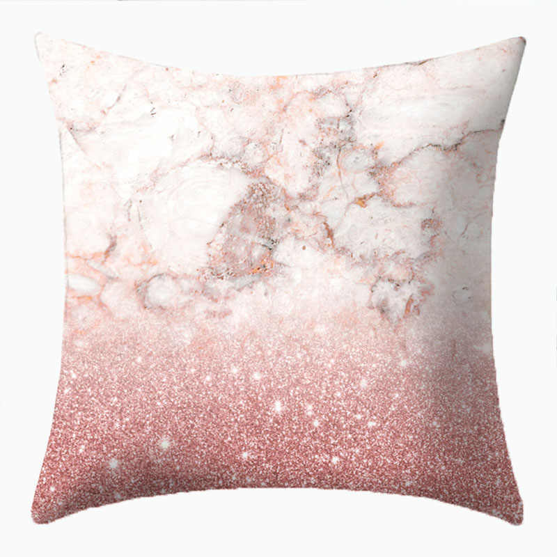 Pink Vs Marble Pattern Pillows Decorative Covers Cushion Cover Decorations For Home Pillow Sofa