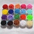 25g Fabricación de Joyas Pequeño Acrílico Perlas Spacer Seed colores Multi, 3 MM de la Forma Redonda de Acrílico Miserable, DIY accesorio