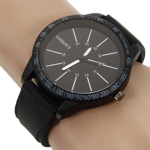 Zegarek męski CAQUO sylikonowa opaska sportowy styl dwa kolory