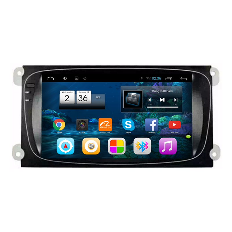 8 Android 4.2.2 1024X600 Car Radio DVD GPS Navigation Central Multimedia for Ford Focus Mondeo S-Max WIFI DVR OBDII Phonebook