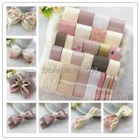 TC8 Sweet pink ribbon set diy hair accessory material diy lace and diy ribbon mix sales for handmade diy