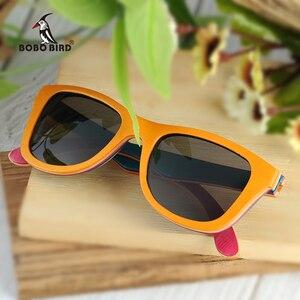 Image 2 - בובו ציפור מקוטב משקפי שמש נשים גברים שכבות סקייטבורד עץ מסגרת כיכר סגנון משקפיים לנשים Eyewear תיבת העץ