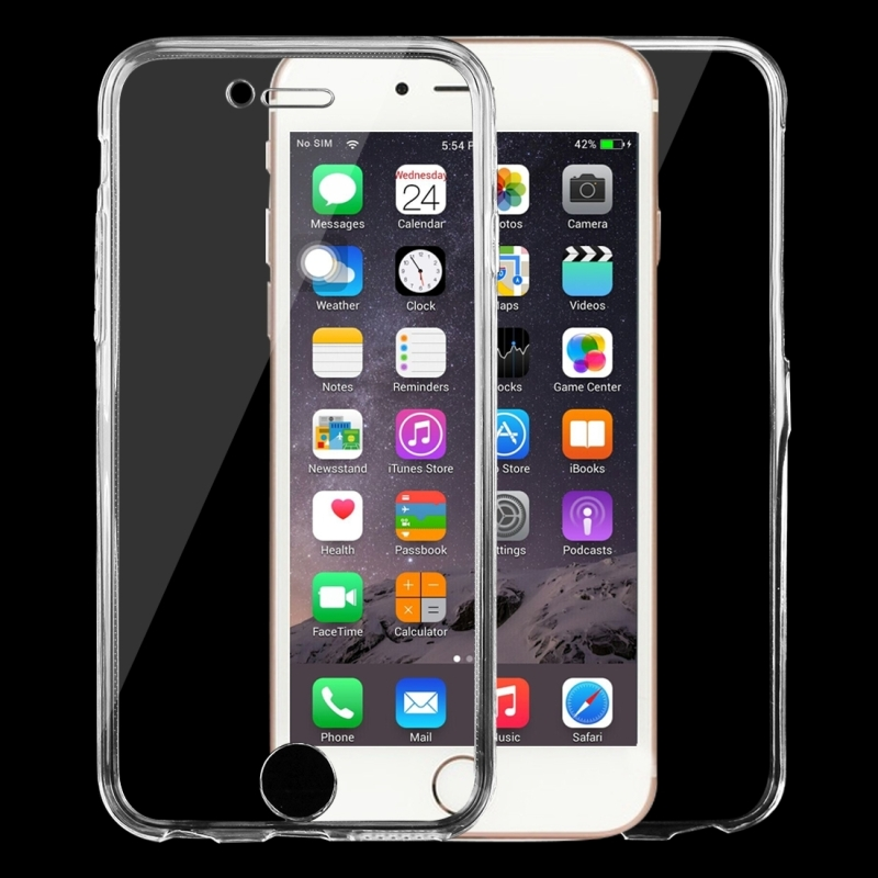 For Apple iPhone 6 Case Full Body Clear Transparent TPU Silicone Flexible Soft Double-Side Cover For iphone 6s funda Phone Cases