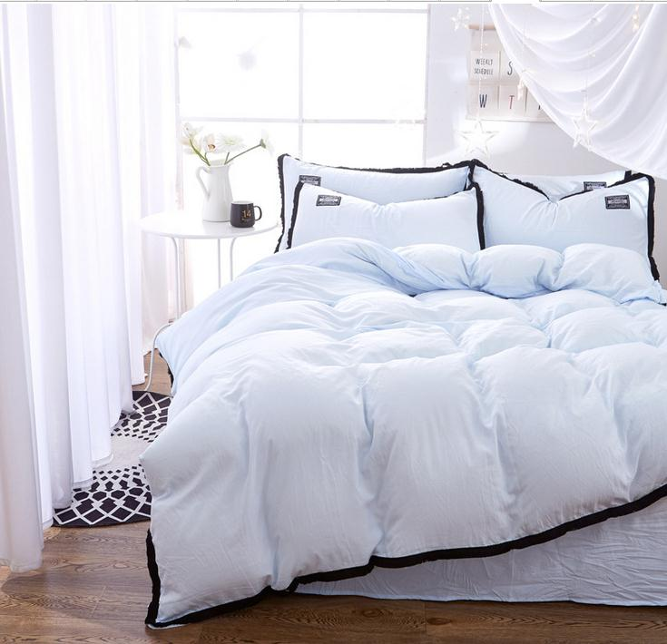 Light Blue Bedding Set Duvet Cover Set Twin Full Queen King Size Bedclothes  Bed Sheet Bedding Sets Bed Linens Pillowcase Set In Bedding Sets From Home  ...