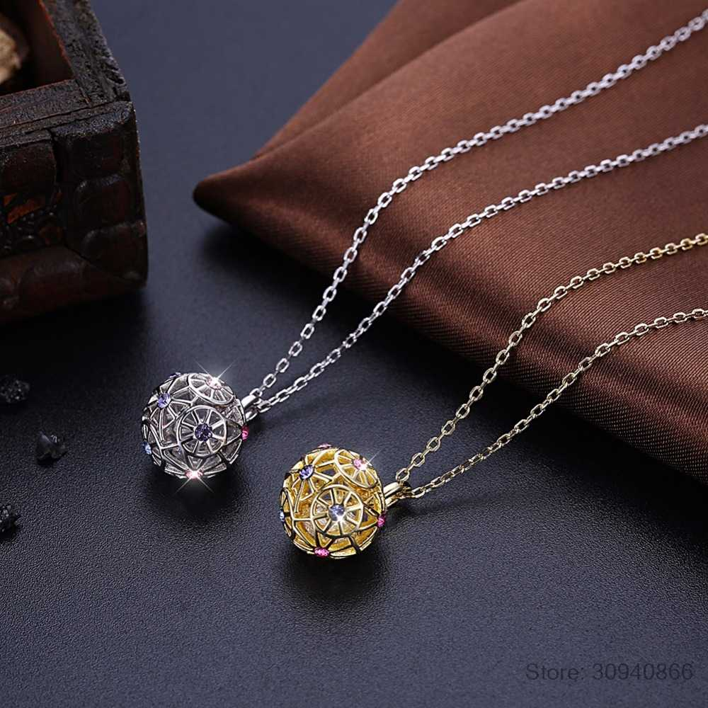 LEKANI Colorful Ball Pendant Necklaces Crystals From Swarovski 925 Sterling Silver Gold Plated Collars Fine Jewelry For Women