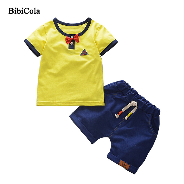 729356a919b7 BibiCola Summer 2018 New Kids Boys Clothes Short Sleeve Cotton T ...