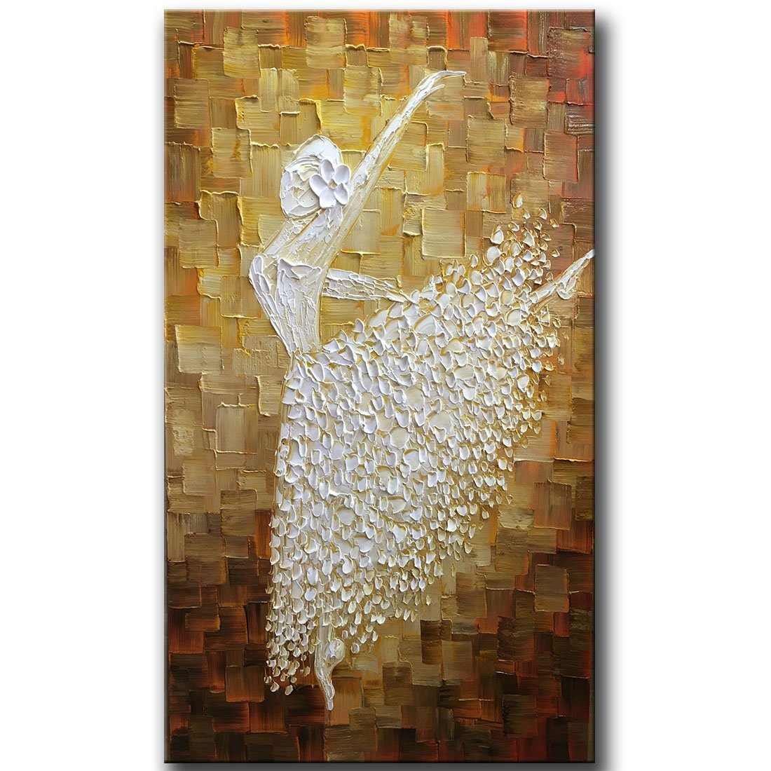 Hand painted Contemporary Art Ballet girl Dancers Oil painting On