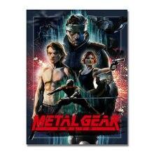 Kunst Seide Oder Leinwand Druck Metall Gear Solid V Hot Spiel Poster 13x18 24x32 zoll Für zimmer Dekoration-006